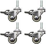 K-Flame Rotelle filettate mobili Piccoli con Freno silenziose rotelle girevoli per Lettino...
