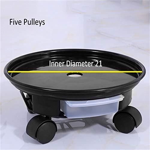 G-HJLXYZWJHOME Plantenstavender, ronde pot, van kunststof, voor binnen en buiten, afneembaar, 2 stuks