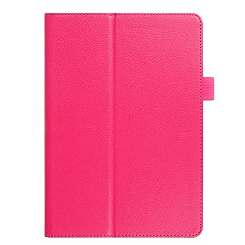QiuKui Tab Funda para la lengüeta S2 8.0', Calidad Folio PU de la Cubierta Elegante de Cuero Caja de la Tableta Galaxy Tab S2 de Samsung 8.0' SM-T710 T715, Caso + Film (Color : Rose Red)