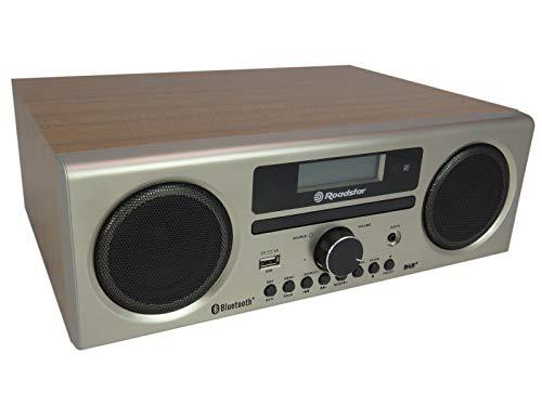 Roadstar HRA-9D+BT DAB+ Digitalradio mit CD-Player und Bluetooth (Aufnahme-Funktion, DAB, DAB+, UKW, RDS, USB, Antennenanschluss, 240 Watt Musikleistung), holzfarben