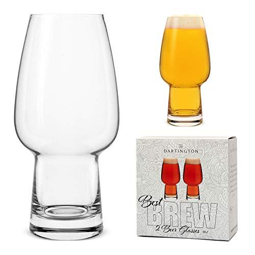 Set di 2 migliori bicchieri da birra da 500 ml, realizzati da Dartington Crystal per Bar Amigos, ideali per IPA Stout Pale Ale e Craft Beer Degustazione Set Regalo