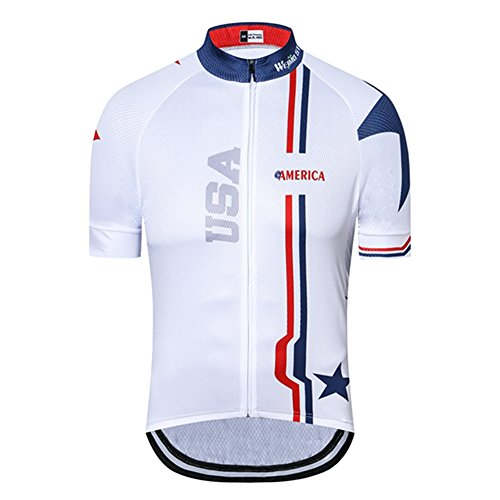 Weimostar USA Maillot de ciclismo de manga corta para hombre, transpirable con...
