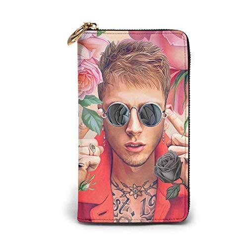 XCNGG Ma-Chine G-Un Kelly Slippery Lederbrieftaschen für Männer und Frauen, personalisierte Brieftaschen