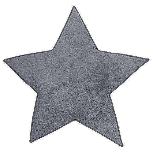 Mikrofaser-Teppich für das Kinderzimmer-Stern, grau