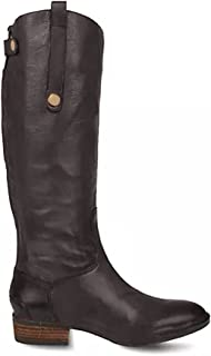 Women's Knee High Zipper Closure Irregular Low Heel Boot With Buttons