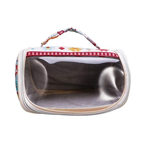 STOBOK Pet Carrier Bag Hamster Portable Breathable Outgoing Bag Clear Window Sling Backpack Pouch for Hedgehog Sugar Glider Squirrel Guinea Pig Rat Ethnic Style