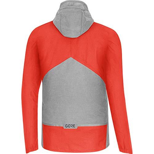 GORE WEAR Men's Trail Hooded Cycling Jacket, C5, GORE-TEX PACLITE, M, Fireball/Terra Grey