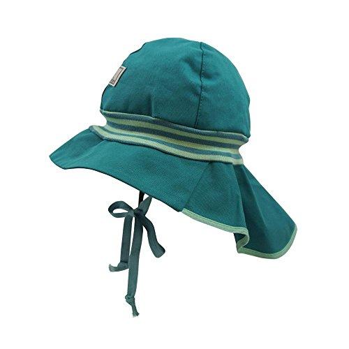 PICKAPOOH Sombrero de bomberos para bebé/niños, de algodón orgánico Color verde. 2 mes