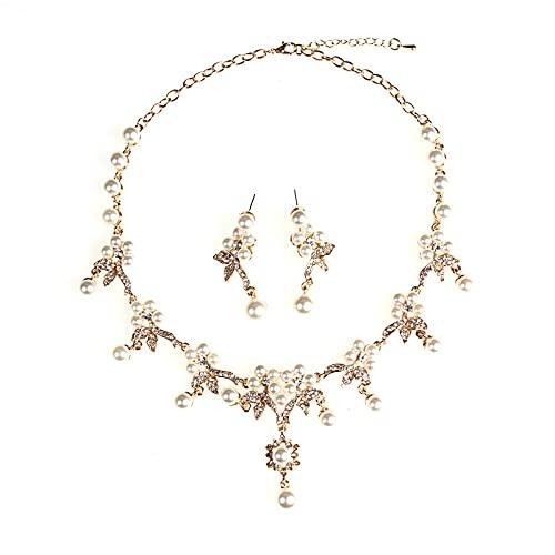 Nueva moda europea y americana en primavera y otoño, cadena de perlas grandes con estrás, pendientes para mujer, accesorios de boda