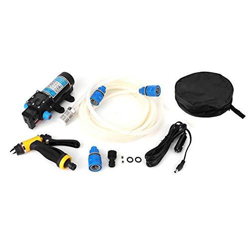 Dispositivo de lavado de autos, 100W Lavadora de autos Bomba Limpiador Lavadora portátil Dispositivo de limpieza eléctrica con interruptor de presión