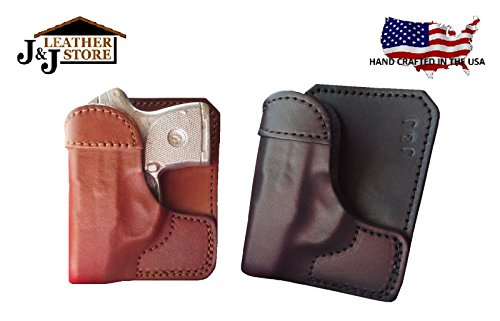 J&J Custom Fit SIG SAUER P365 Formed Wallet Style Premium Leather Back/Cargo Pocket Holster (Black, Right)