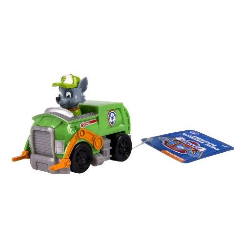 Paw Patrol - Racers - Rocky - Mini Vehículo al Rescate La Patrulla Canina - Medidas 6.4x9.5x7.6 cm