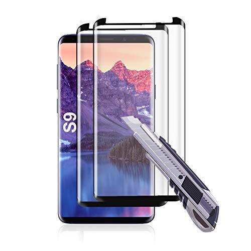 Preisvergleich Produktbild Wlife Panzerglas schutzfolie für Samsung Galaxy S9 (2er Pack) 9H Härte, HD Klar,  Anti-Kratzen, Panzerglasfolie Anti-Öl Anti-Bläschen Gehärtetem Glas Displayfolie für Samsung Galaxy S9