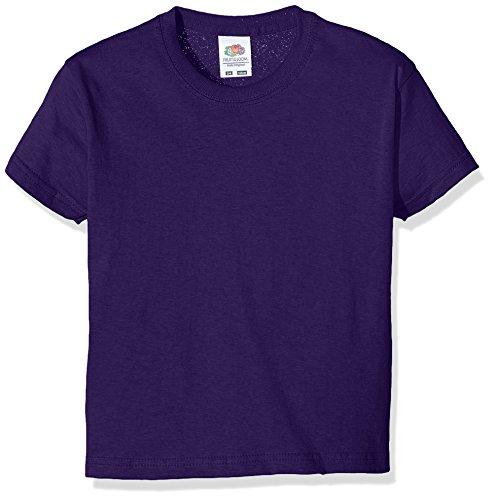 Fruit of the Loom Jungen SS132B T-Shirt, Violett, 3-4 Jahre