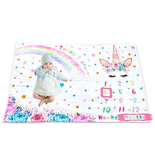 WERNNSAI Unicornio Manta de Hito Bebé - 150 x 100