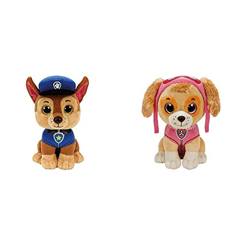 Ty Paw Patrol Skye Cane Peluches Toy 380, Multicolor, 8421412105 + Patrulla Canina Chase 15 cm (41208TY) (United Labels Ibérica