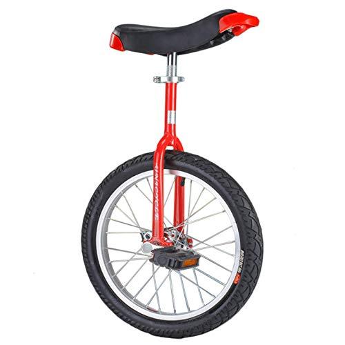 aedouqhr para Adultos Niños, 16'/ 18' / 20'/ 24' Bicicleta de Equilibrio de una Rueda para Adolescentes Hombres Mujer Niños Niñas, Marco de Acero * Llanta de aleación, Montaña al Aire Libre (Color: