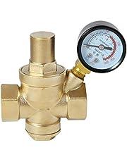 Waterdrukregelaar met manometer drukverminderaar reduceerventiel drukregelventiel drukregelaar aansluiting 1/2 3/4 1 1-1/4 inch 1-6 bar