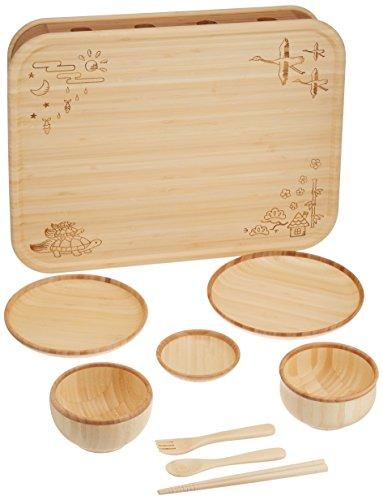 agney*お食い初め箱膳セット国産天然竹製食洗機対応モダンタイプ