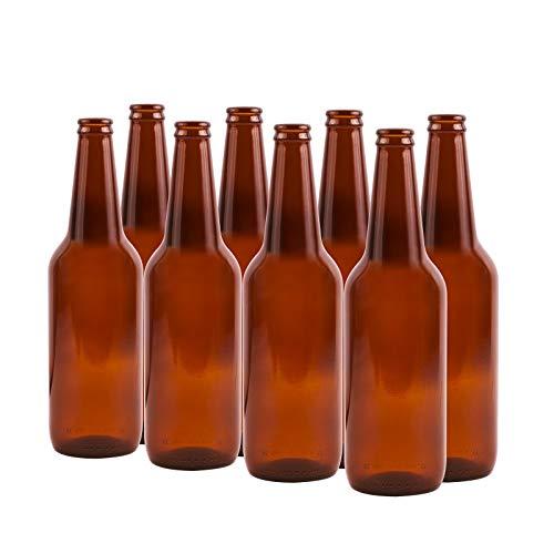 New marrone/ambra vetro tappo bottiglie casa Brew birra 500ml x 12pz