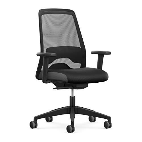 Interstuhl Bürostuhl Every EV15R HeiQ - Antimikrobielles Polster an Rücken und Sitzfläche - Stofftechnologie mit HeiQ Viroblock - Schreibtischstuhl für langes Sitzen (Netzrücken)