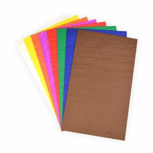 Wabenpapier Bastelset 8 Farben 33x20 cm rot, blau, grün, braun, weiß, gelb, orange, pink