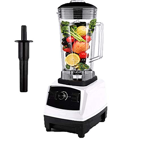 2L Smoothie Maker/Mixer, Arbeitsplattenmixer Krugmixer mit BPA Free Glass Jar, Variable Geschwindigkeitsregelung & ABS Rührstange für Juice Shakes,Weiß,110V US Plug