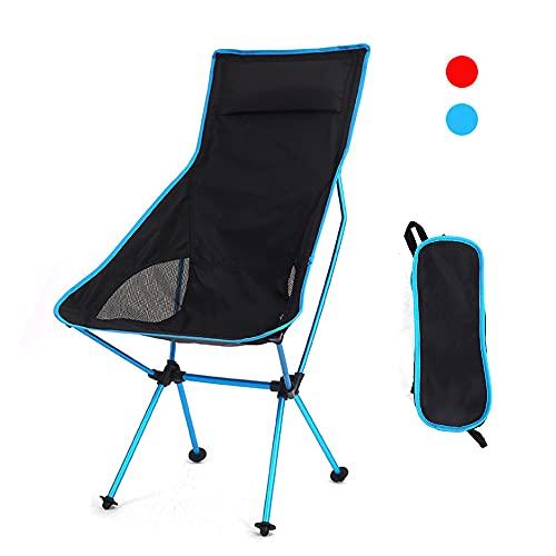 Campingstuhl Klappstuhl Outdoor Klappstuhl Angelstuhl Strand Picknick Stühle Leicht und tragbar Ideal mit Tragetasche für Angeln, Camping, Reisen, Wandern, Garten und Grillen