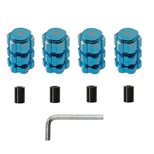 YUEFICO 4pcs 17mm Hex Adaptador Tuercas Splased Wheel Hubs 10mm Extension Combiner para TRAXAS 1/10 Piezas de Coche RC Tornillo RC ( Color : Blue )