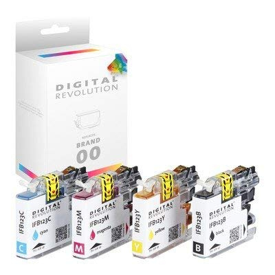 Digital Revolution, Tintenpatronen Multipack 'BCMY', 44,6 ml, Originalverpackte Markenpatrone, ersetzt: Brother LC-123/121 VAL BPDR, schwarz, Cyan, Magenta, gelb