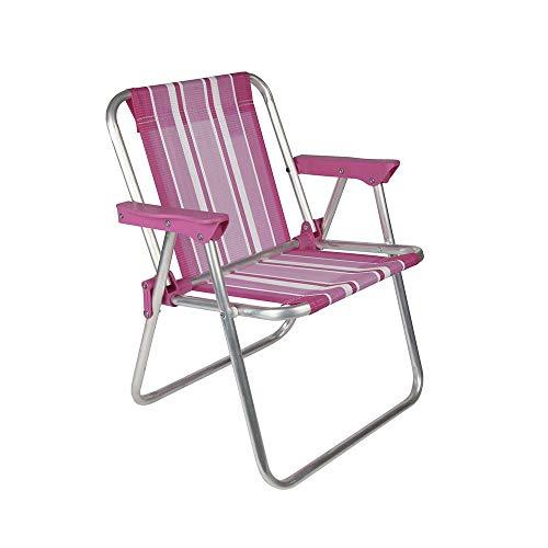 Cadeira Infantil Alta Mor Rosa Alumínio