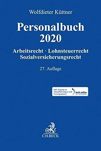 Personalbuch 2020: Arbeitsrecht, Lohnsteuerrecht, Sozialversicherungsrecht