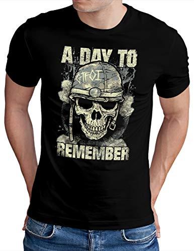 OM3® A Day to Remember T-Shirt   Herren   ADTR Hardcore Rock Hardrock Metal   Schwarz, L
