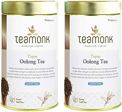 Teamonk Tapas Oolong Tea Loose Leaf 150 Cups Premium Oolong Tea Weight Loss Tea Slimming Tea product image