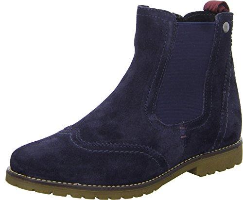 BOXX WH-018-H03 Damen Stiefeletten Chelsea Boots Leder Leicht Gefüttert Größe 38