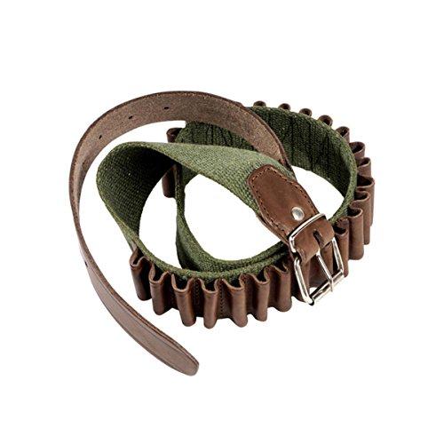 Fantastic Deal! Bisley Cartridge Belt Leather On Webbing Loops 12g Shotgun