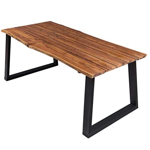 vidaXL Akazienholz Massiv Esstisch Küchentisch Esszimmertisch Speisetisch Tisch Esszimmer Küche Massivholztisch Holztisch 170x90x75cm