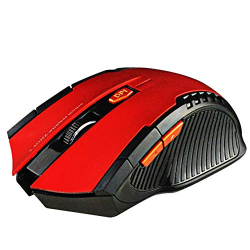 Wired Bluetooth Mouse Gaming Mouse 1600DPI Ergonomic Optical Mouse Noise-Free Mouse for Laptop PC Windows-Red