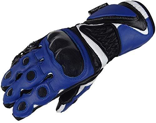 Bangla 5011 Motorrad Handschuhe Motorradhandschuh Leder Carbon-Kevlar blau XL
