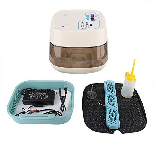 Xinwoer Energiesparender, geräuscharmer Eierbrutschrank, vollautomatischer Eierbrutschrank für Haushaltseier mit LED-Kerzenlampe(EU-Stecker 220V)