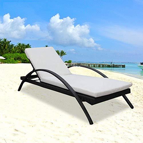 N/Z Equipo Diario Sillón de salón Silla de Playa al Aire Libre Esponja de Espuma elástica Alta Cama de Descanso Balcón Sofá Muebles