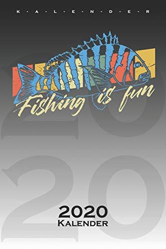 Fishing is fun Kalender 2020: Jahreskalender für Angler, Fischer und Freunde des Fischfangs
