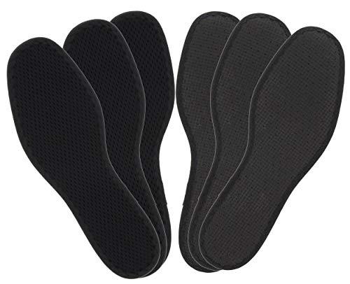 Bama Fresh Deo Active Schuh-Einlegesohlen, Deo-Sohle für frische Füße im Dreierpack, Schwarz, Unisex, Größe: 42