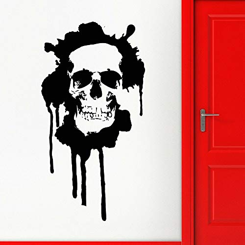 Skull Bone Decals Death Style Rock Teenager Men's Party Decoration Household Vinyl Stickers ~ Girls Bedroom Living Room Wedding Party Decoration