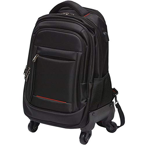 Laptop Trolley Bag on Wheels Carry-Ons Wheeled Holdall Bags Suitable for 15.6In Laptop/2-3 Days Short Trip,Nero