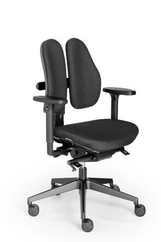 Rohde und Grahl Duo Back® 11 Ergonomischer Bürodrehstuhl Bezug schwarz, mit Armlehnen