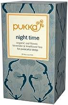 Pukka Herbal Teas Night Time Organic Oat Flower Lavender and Limeflower Tea - 20 Bags