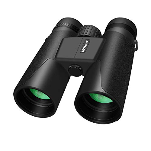 Whew Binoculars for Adults,10x42 Compact HD Binoculars with Low Light Night Vision for Bird Watching Hunting Hiking Travel Stargazing Concerts Sports, BAK4 Prism FMC Lens with Strap Carrying Bag