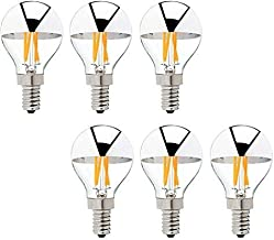 KLED LED Vintage Edison Bulb, Half Silver Bowl Tipped, Dimmable, G45 4W (30W Equivalent), LED Filament Bulb, 350 Lumen, 27...