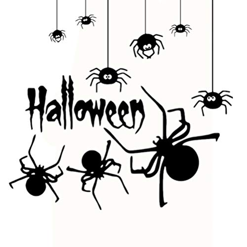 Halloween araña pegatinas de pared creativo DIY extraíble decoración de la pared calcomanías murales para Home Bar decoración del partido